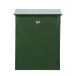 Jednoduchá poštovní schránka z oceli, zelená