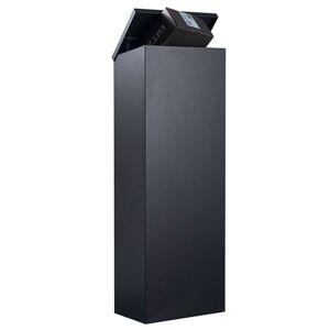 Stojanová poštovní schránka Allux 600S-B, černá