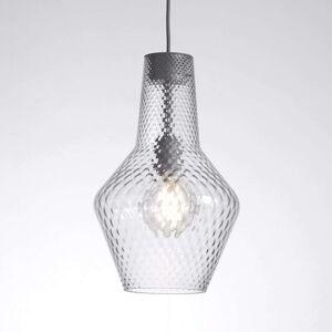 Závěsné světlo Romeo 130 cm, průhledné sklo