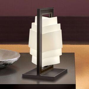 Tmavě hnědá stolní lampa Vicente