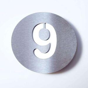 Domovní číslo Round z nerezu - 9