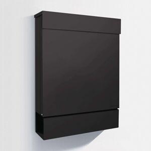 Letterman M poštovní schránka noviny, černá