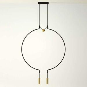 Axolight Liaison M2 závěsné světlo čerň/zlato 84cm