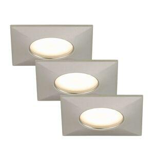 LED podhledové svítidlo Luca sada 3 IP44 nikl mat