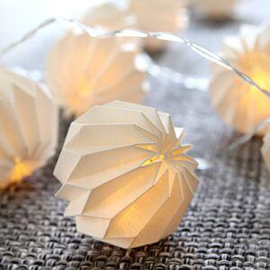 Best Season Jemný LED světelný řetěz Paper Flower bílá