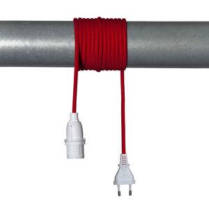 STAR TRADING E14 patice Lacy s kabelem, červená a bílá