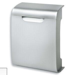 Moderní plastová poštovní schránka Vivo, stříbrá
