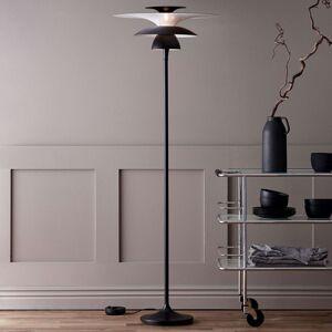 Stojací lampa LED Picasso, stínidlo 38 cm, černá