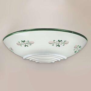 Nástěnné světlo Bassano z keramiky přilehlé zelené