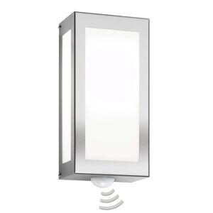 Venkovní nástěnné svítidlo Aqua Rain nerez, senzor