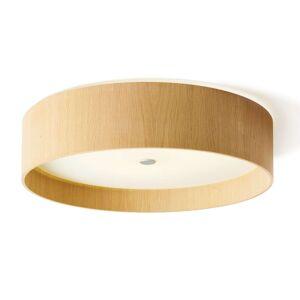 Kulaté stropní LED svítidlo Lara wood, dub 55 cm