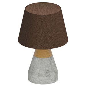 Stolní lampa Tarega textilní s betonovou základnou