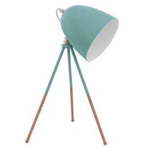 Retro stolní lampa Dundee v mátově zelené barvě