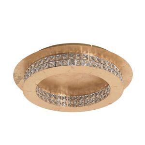 LED křišťál. stropní světlo Principe zlatá Ø 50cm