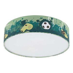 Stropní světlo Tabara s fotbalovým motivem, textil