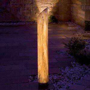 Svítící LED sloupek Sahara s pískovcem, 80 cm