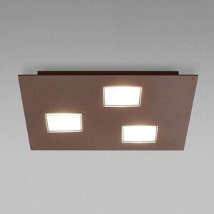 Fabbian Quarter - hnědé LED stropní svítidlo 3zdr
