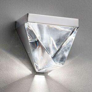 Fabbian Tripla LED nástěnné světlo křišťál hliník