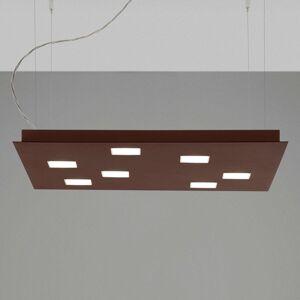 Fabbian Quarter - hnědé závěsné světlo LED 7zdr