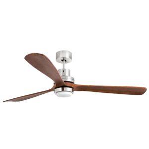 LED stropní ventilátor Lantau-G, vlašský ořech