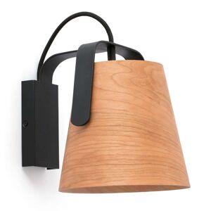 FARO BARCELONA Nástěnné světlo Stood s dřevěným stínidlem