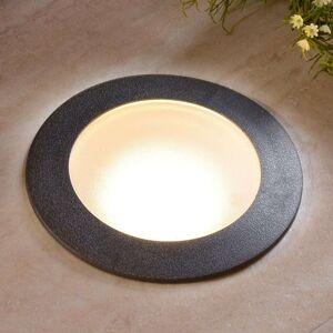 Černé zápustné LED svítidlo Ceci 160 kruh, teplé