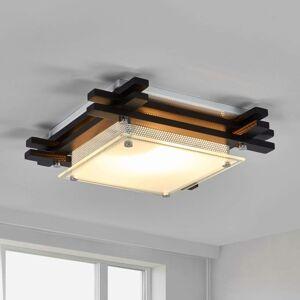 Dřevěné stropní svítidlo EDISON, tmavé
