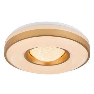LED stropní svítidlo Colla se zlatým rámečkem