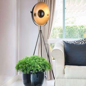 Stojací lampa Sandra, třínohá, černo-stříbrná