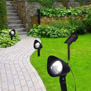 LED solární svítidlo 33027-3, 3dílná sada, černé