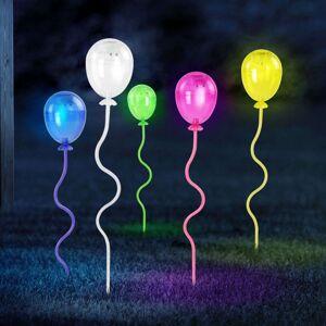 LED solární svítidlo s bodcem 33909-5, balónky