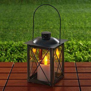 Solární LED lucerna Basila včerné variantě