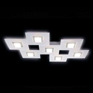 GROSSMANN Karree LED stropní svítidlo, 7zdr titan