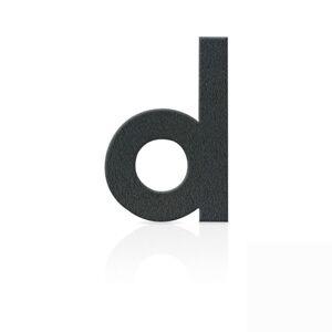 Nerezová domovní čísla písmeno d, grafit šedý