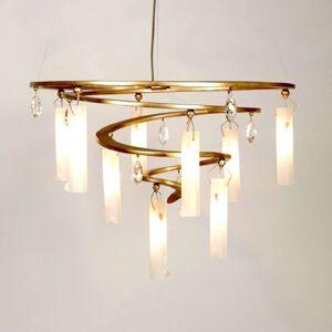 Závěsné světlo LED Spirála, 9zdrojové zlaté