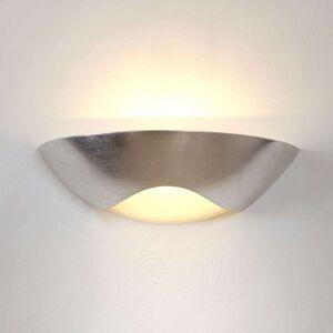 Ušlechtilé nástěnné světlo Matteo Curve, stříbrné