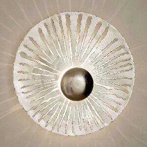 LED nástěnné světlo Pietro kulatý tvar, stříbrné