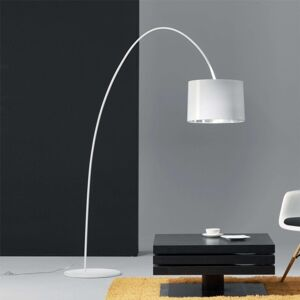 Helestra Roxx – oblouková lampa, bílá