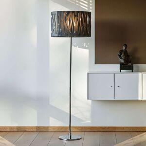 Stojací lampa Grass s šedým akrylovým stínidlem