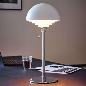 Bílá stolní lampa Motown s rastrem