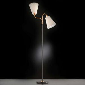 Dvouramenná stojací lampa Hopper černá bronz
