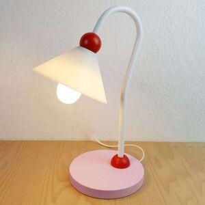 Šarmantní stolní lampa na čtení Prinzessin, růžová