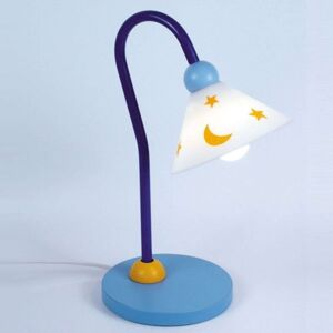 Světle modré stolní světlo na čtení Prinz