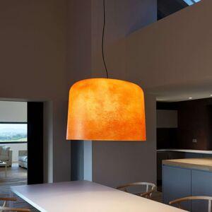 Sklolaminátové závěsné světlo Ola oranžové