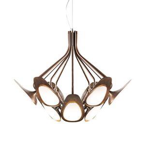 Kundalini Peacock - závěsné světlo LED bronz