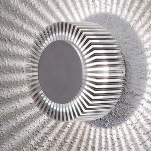Monza venkovní nástěnné LED kulaté stříbrné 15cm