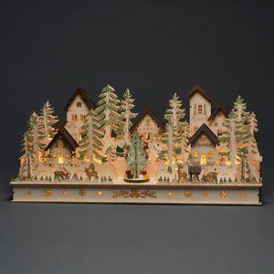 Konstmide CHRISTMAS LED vánoční oblouk dům a figurky