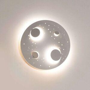 Knikerboker Buchi LED nástěnné světlo Ø 40cm bílé