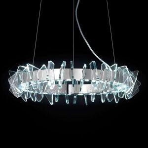 Kruhové závěsné světlo LED EOS se sklem