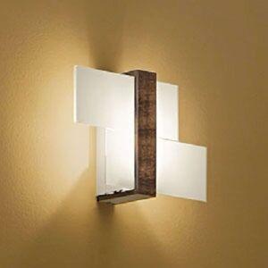Nástěnné světlo Triad se dřevem 35 cm